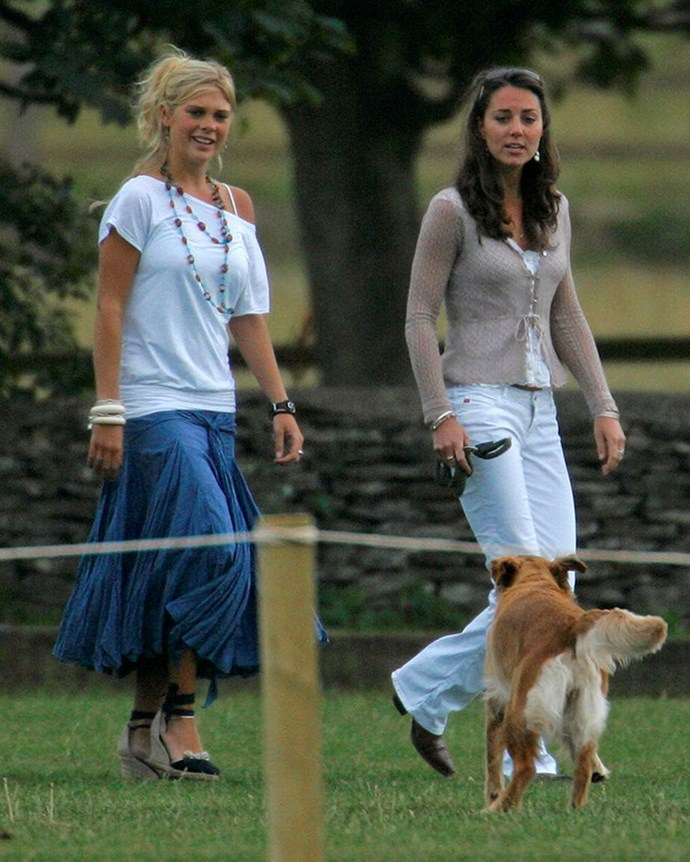 With Prince Harry's ex-girlfriend, Chelsea Davy, in 2006.