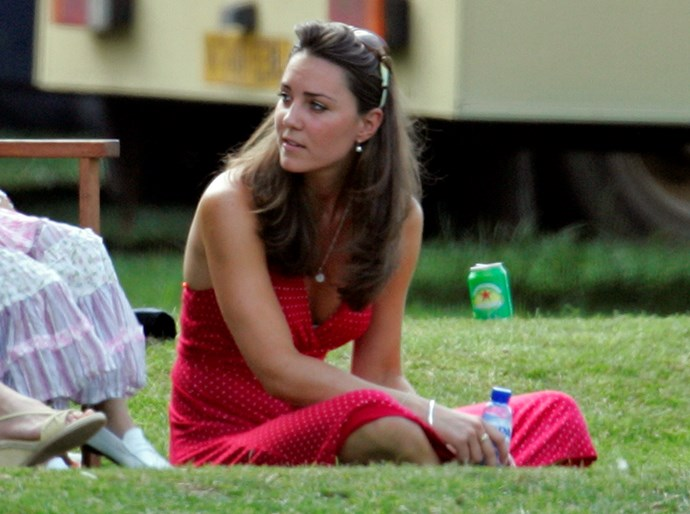 Relaxing at a polo match in 2006.