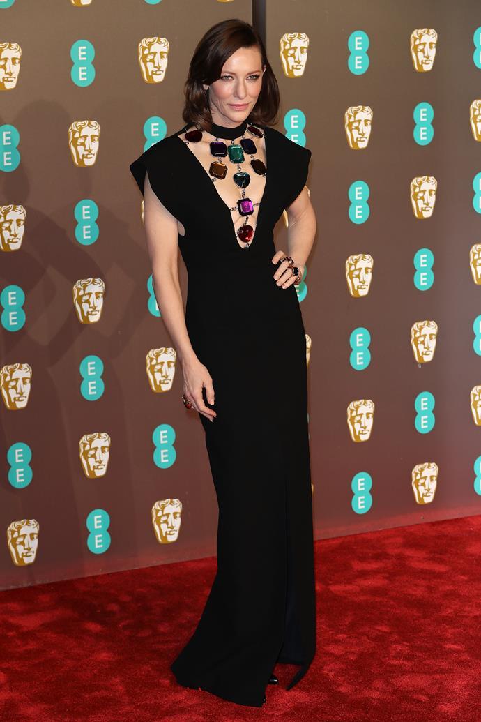 Blanchett at the BAFTAs in London on February 10, 2019.