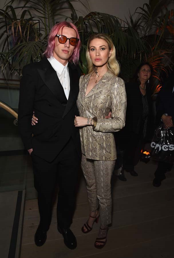 Jamie Campbell Bower and Ruby Quilter.