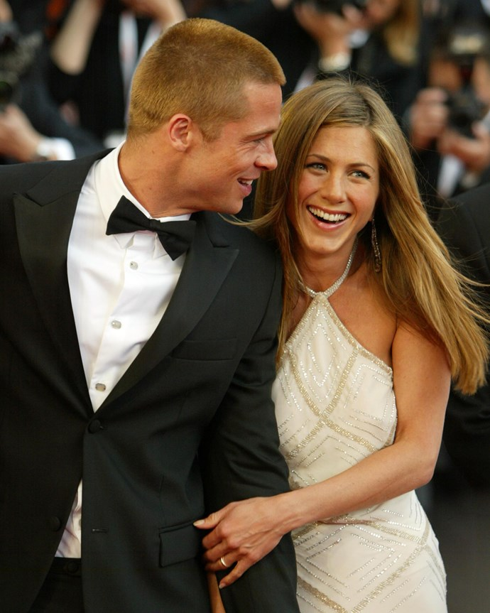 Pitt and Aniston in 2004.