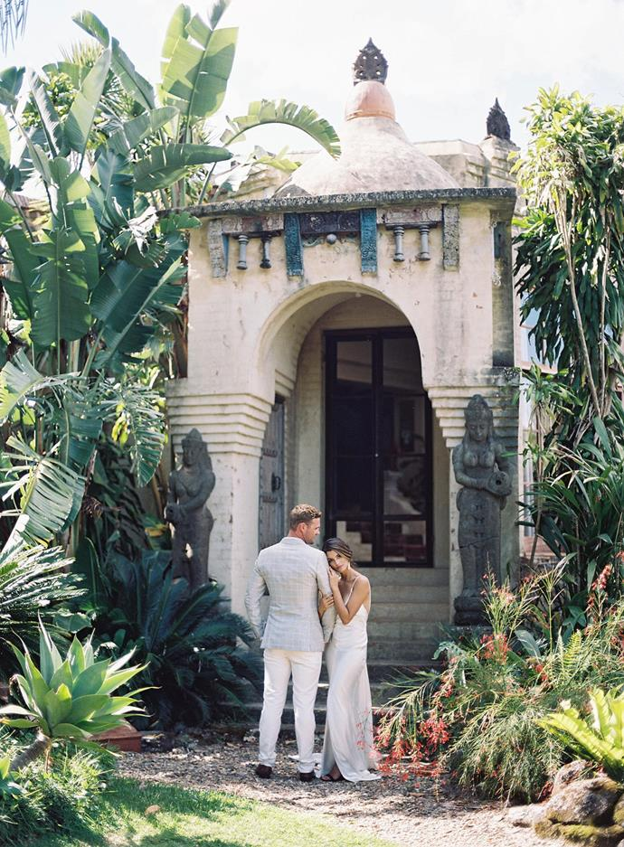 **On the significance of the location:** Besides the fact that they got engaged in Byron, they loved the idea of a destination wedding but didn't want it to be too far away for his mum to travel. Byron Bay is one of those Australian Destinations, even for someone living in Australia it feels like a Destination. With the European chateau character of Villa Rustica and tropical relaxed setting the venue was just perfect.
