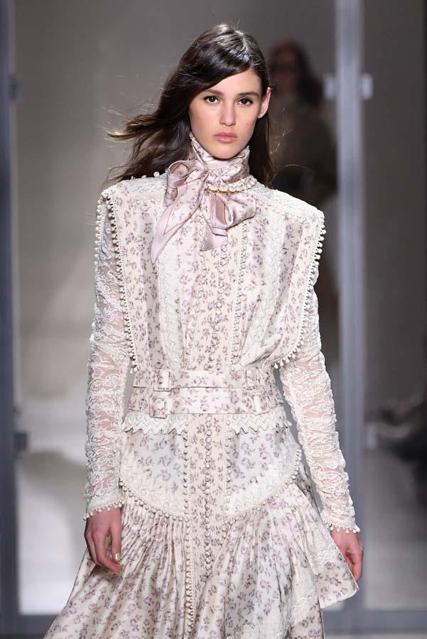 ***Thou Must Go Girly***<bR><br> Although masculine details will always have their place in our wardrobes, the cooling weather makes us want to gussy up outfits with girlish details. Embrace the return of Victoriana with lace collars, classic corsets and all-over lace.<bR><br> Pictured: Zimmermann autumn/winter '19.