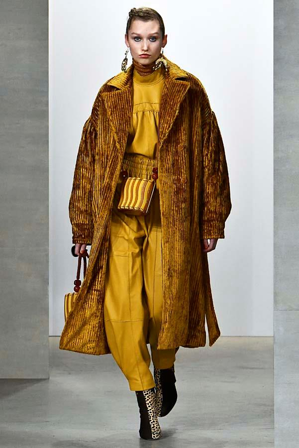 ***Thy Coat Shalt Be Supersized***<br><br> Gone are the days of the sleek duster or the dainty trench, this winter coats must be at full capacity. Think Tom Ford's ultra-luxe teddy, Eckhaus Latta's vintage-esque iteration, or Ulla Johnson's padded corduroy. Subtlety need not apply.<br><br> Pictured: Ulla Johnson autumn/winter '19.