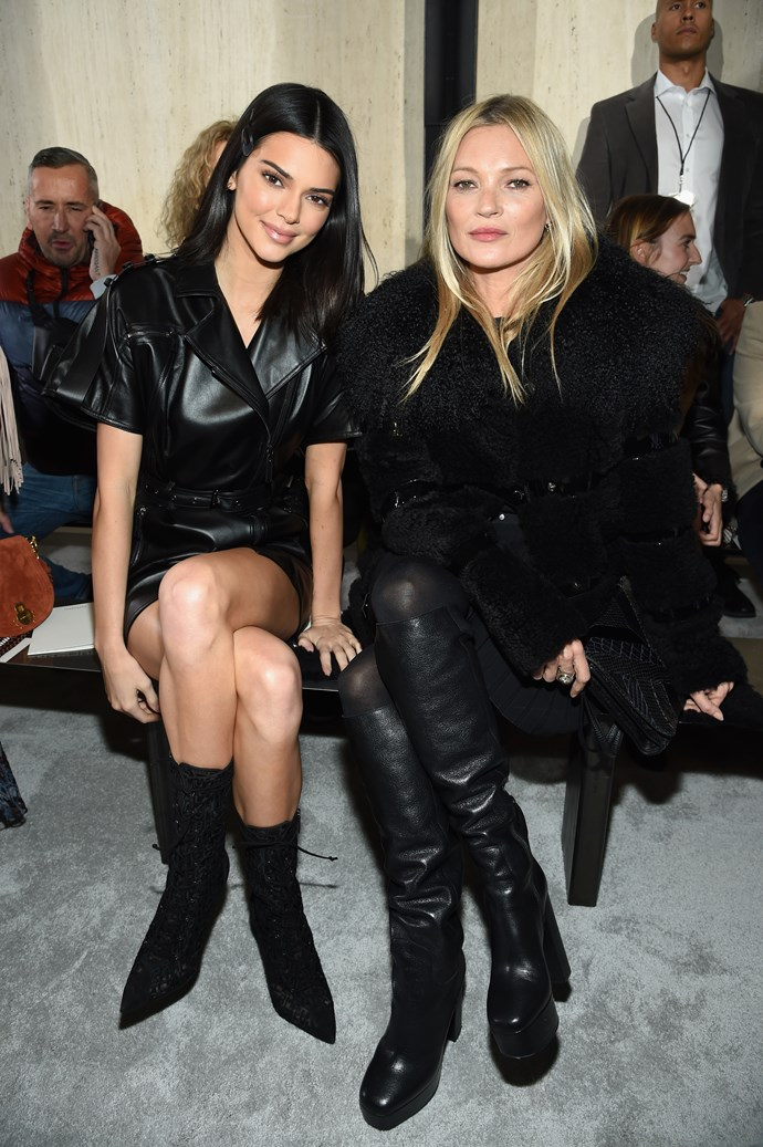 **LONGCHAMP:** Kendall Jenner and Kate Moss.