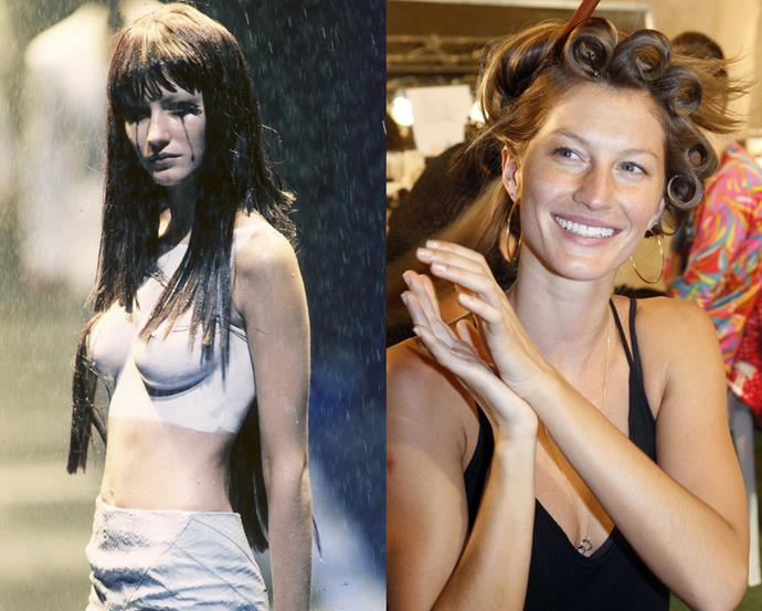 ***Gisele Bündchen*** <br> Living in the public eye was the furthest thing from 14-year-old Gisele Bündchen's mind, until she was discovered by a modelling agent while dining at a McDonalds restaurant in São Paulo, Brazil. <br><br> Before long, she was hand-plucked to walk for British designer Alexander McQueen, and by 18 years old, she was walking for Victoria's Secret.
