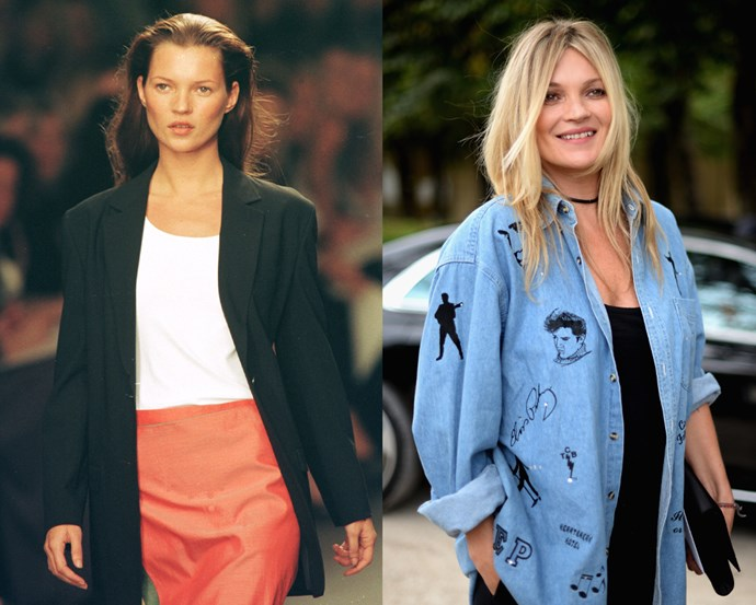 """***Kate Moss*** <br> Few models have reached Kate Moss's level of stardom, but the British It-girl came from extremely humble beginnings. Her father worked for now-defunct airline Pan-Am, and the then-14-year-old was discovered by agent Sarah Doukas at JFK Airport in New York. <br><br> Moss told *LOVE Magazine* of the encounter: """"I was short, I had bow legs and crooked teeth, and nobody thought I was the prettiest girl in the school."""" Fortunately, Calvin Klein did, who used her as a muse for years and set the path for her career."""