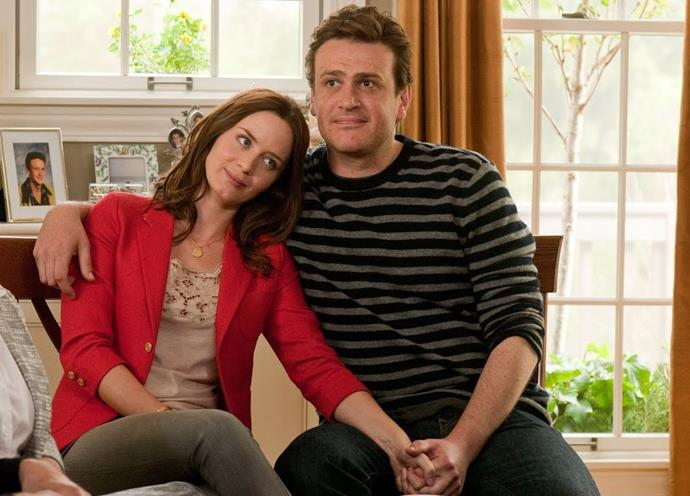 ***The Five-Year Engagement*** <br><br> An engaged young couple (played by Emily Blunt and Jason Segel) discovers that the more they get to know each other, the more unpredictable their commitment to getting married becomes.