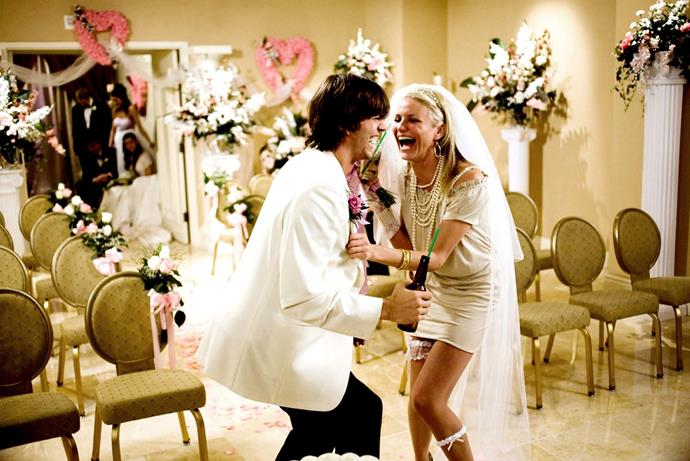 ***What Happens In Vegas*** <br><br> After a night of heavy partying in Vegas, two strangers (Cameron Diaz and Ashton Kutcher) wake up to realise, much to their displeasure, that they've gotten married.