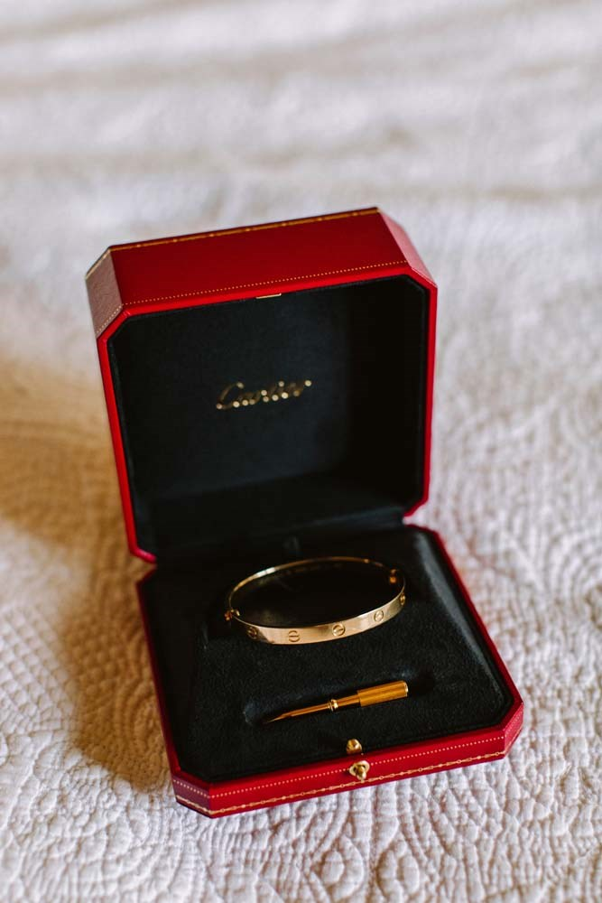 **On her accessories:** My favourite accessory was the Cartier 'Love' bracelet James gifted to me on our wedding day (he sent it over with my brother in the morning).