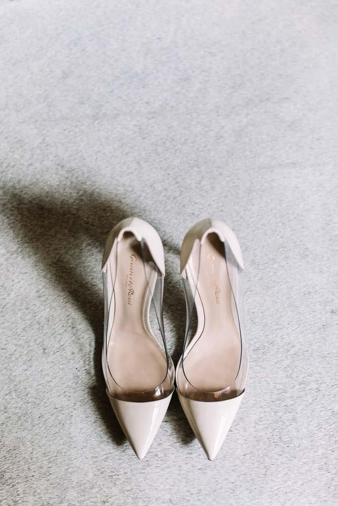The bride's reception shoes.