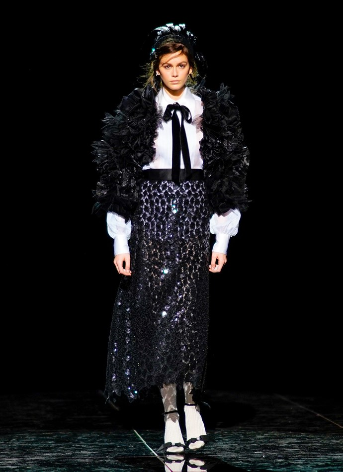 Kaia Gerber at Marc Jacobs autumn/winter '19.