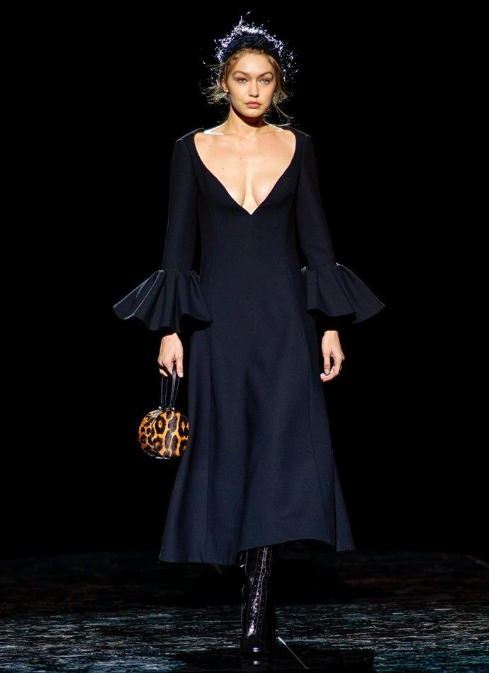 Gigi Hadid at Marc Jacobs autumn/winter '19.