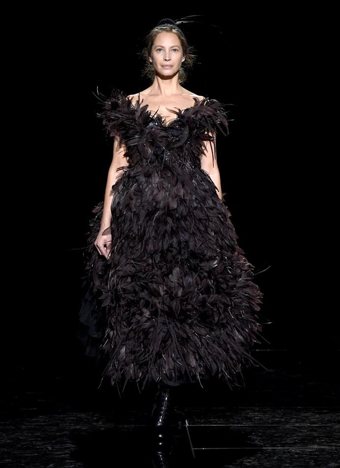 Christy Turlington at Marc Jacobs autumn/winter '19.