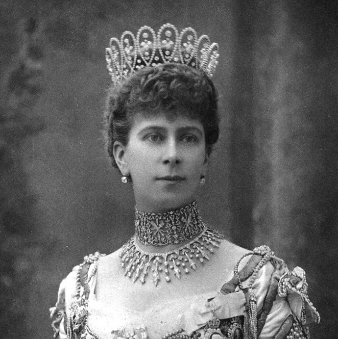 **The tiara:** Queen Mary's Boucheron Loop Tiara.<br><br> **The history:** Using a collection of 675 diamonds given to her by de Beers, Queen Mary of Teck commissioned Boucheron to make this looped tiara.<br><br> **The current wearer:** It's currently unworn.<br><br>