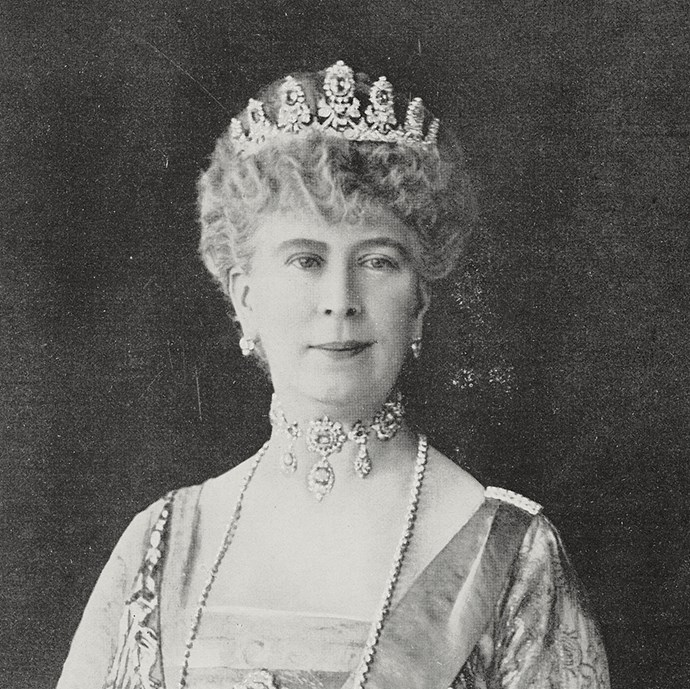 **The tiara:** The Cambridge Sapphire Parure.<br><br> **The history:** Originating in the early 1800s, this tiara is made form sapphires and diamonds and was worn by Queen Mary of Teck regularly. <br><br> **The current wearer:** Unworn.<br><br>
