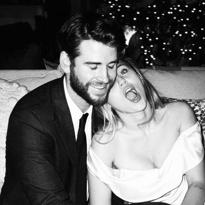 "***Miley Cyrus*** <br> ""My Valentine every single day ❤️ @liamhemsworth"" <br><br> *Image: [@mileycyrus](https://www.instagram.com/p/Bt4EhjFhJZD/ target=""_blank"" rel=""nofollow"")*"