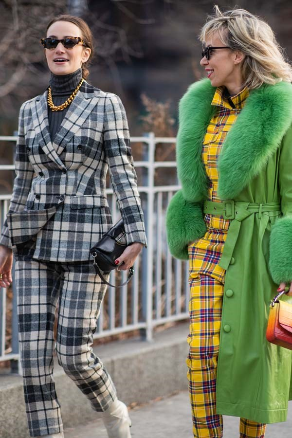 *Clueless Plaids*<br><br> Pink, yellow, blue or green, fun tartans and plaids are having a moment.