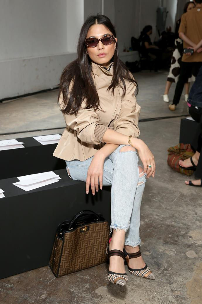 Jessica Gomes at Dion Lee.