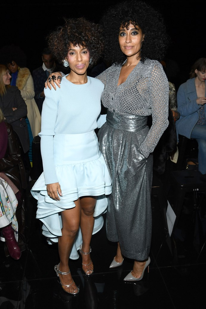Kerry Washington and Tracee Ellis Ross at Marc Jacobs.