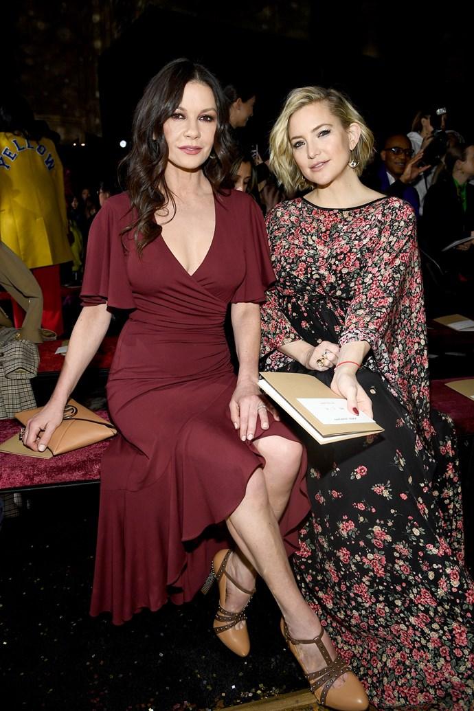 Catherine Zeta-Jones and Kate Hudson at Michael Kors.