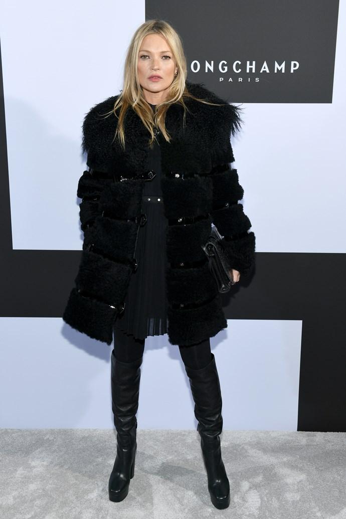 Kate Moss at Longchamp.