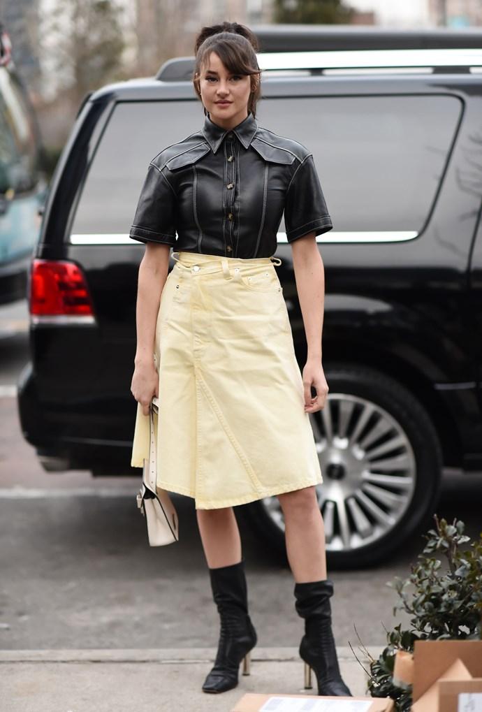 Shailene Woodley at Proenza Schouler.
