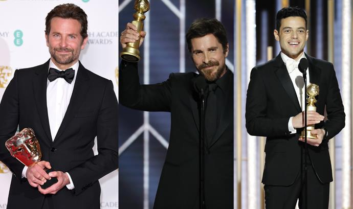 ***Actor in a Leading Role*** <br><br> The Leading Actor nominees are also a mixed bag—with Bradley Cooper, Christian Bale and Rami Malek all nominated throughout the season. However, if we're going by track record, it would make sense for Malek to win, considering he's won a Golden Globe and a SAG Award for his performance as Freddie Mercury in *Bohemian Rhapsody* (and has never been nominated for an Oscar before). Christian Bale could also win, considering he won a Golden Globe and Critic's Choice Award for his performance in *Vice*. <br><br> **Most likely to win:** Rami Malek for *Bohemian Rhapsody*, or Christian Bale for *Vice*