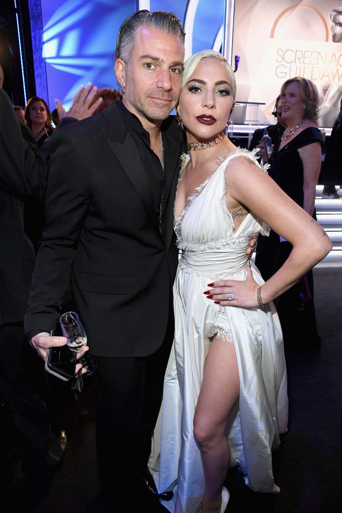 Carino and Gaga at the SAG Awards on January 27, 2019.