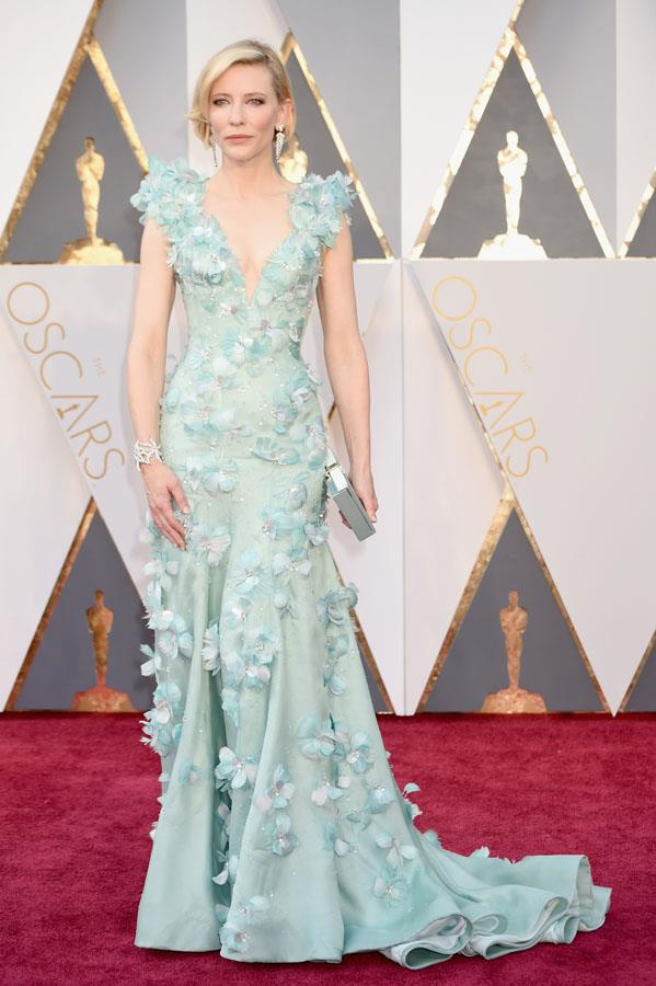 **PISCES** <br>Your colour: Seafoam  <br>As a water sign, seafoam is a natural choice for wise and compassionate Pisces. Cate Blanchett's elaborately embellished Armani Prive gown appeals to Picses artistic side.