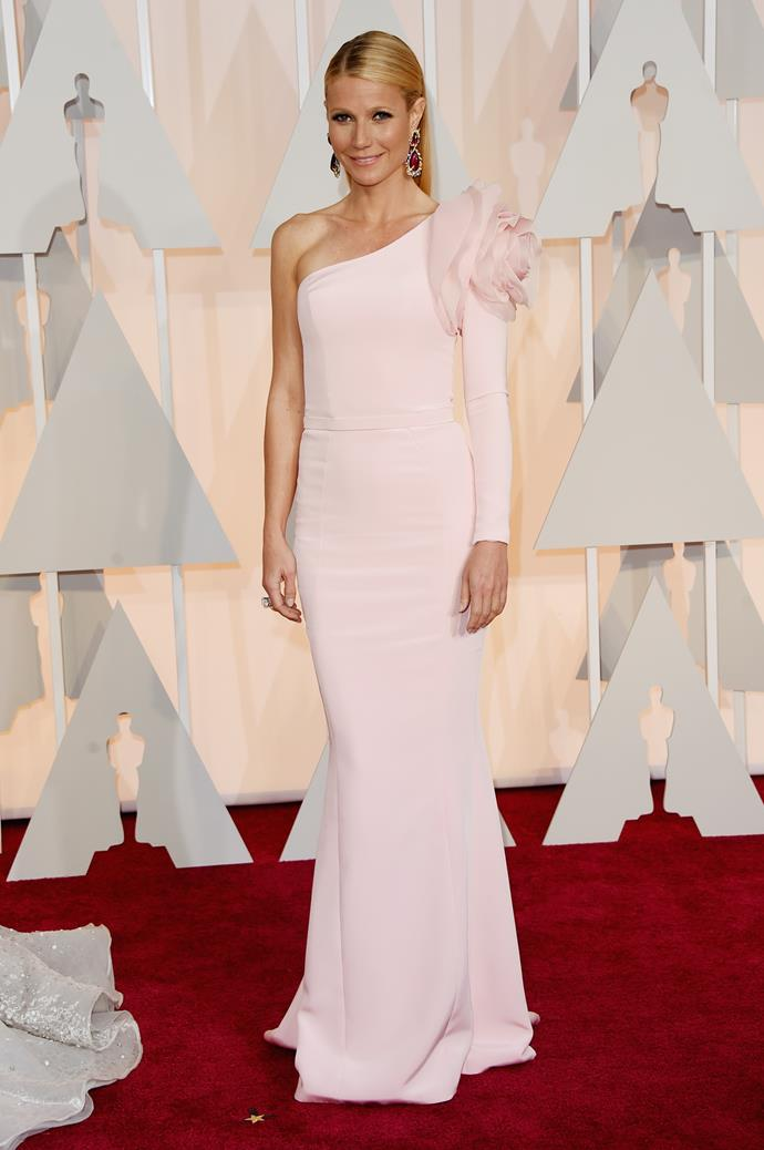 **LIBRA** <br>Your colour: Pastel Pink <br>Peaceful, gracious and diplomatic, Libra's love of the finer things in life make them inherently chic and elegant dressers, like Gwyneth Paltrow in this stunning Ralph & Russo gown.