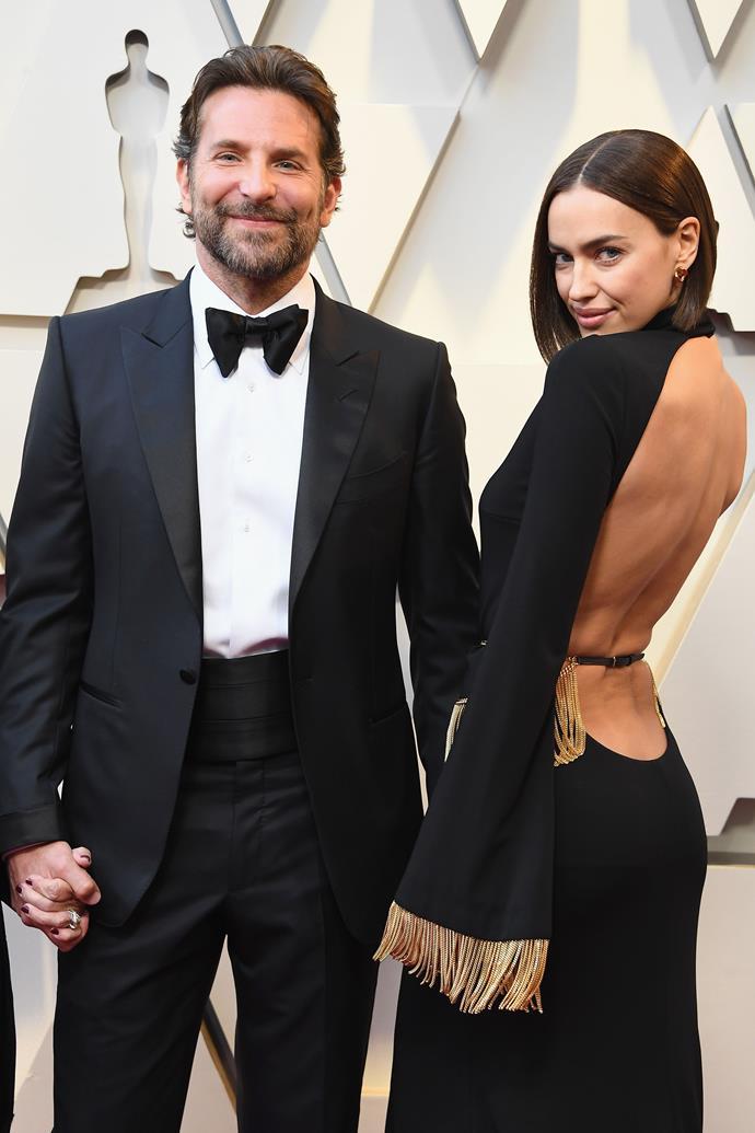 Bradley Cooper and Irina Shayk at the 2019 Academy Awards.
