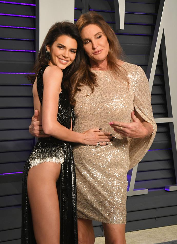 Kendall and Caitlyn Jenner at the Vanity Fair Oscars Party on February 24, 2019.