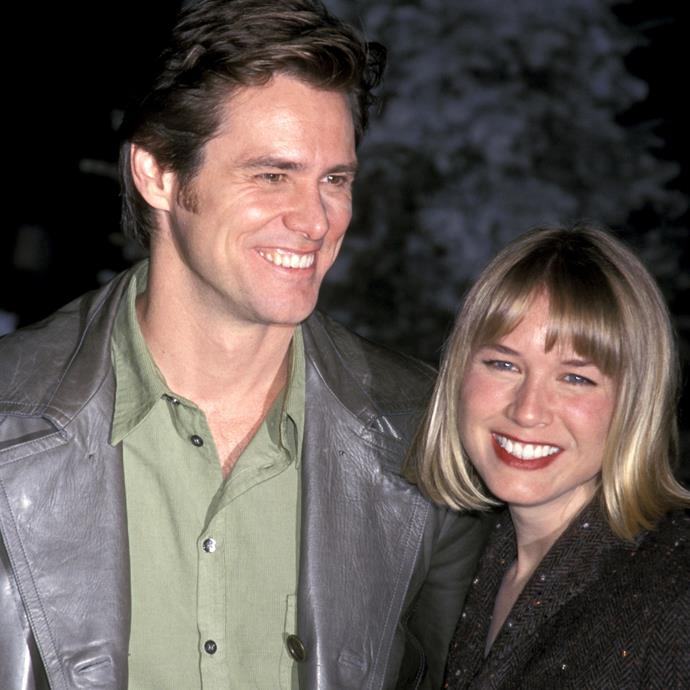 With Jim Carrey in 2000.