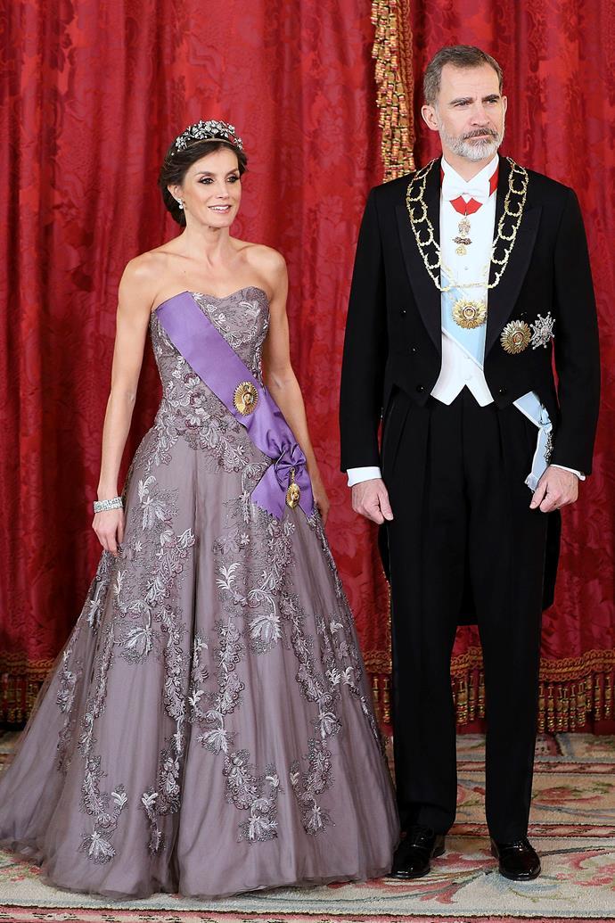 Queen Letizia and King Felipe VI of Spain on February 27, 2019.