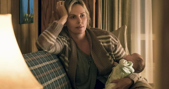 ***Tully* (from 12/3/2019)** <br><br> A struggling mother of three (Charlize Theron) forms an unexpected bond with the night nanny hired to help with her newborn baby.