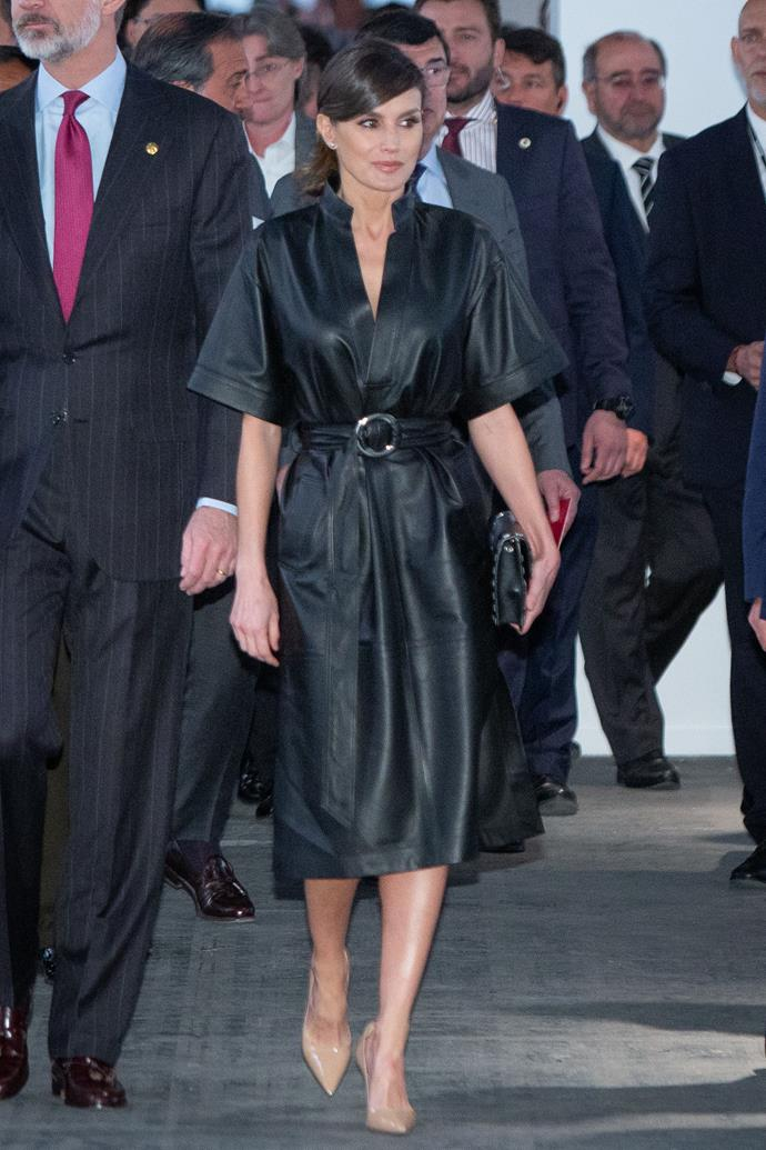Queen Letizia of Spain in Madrid on February 28, 2019.