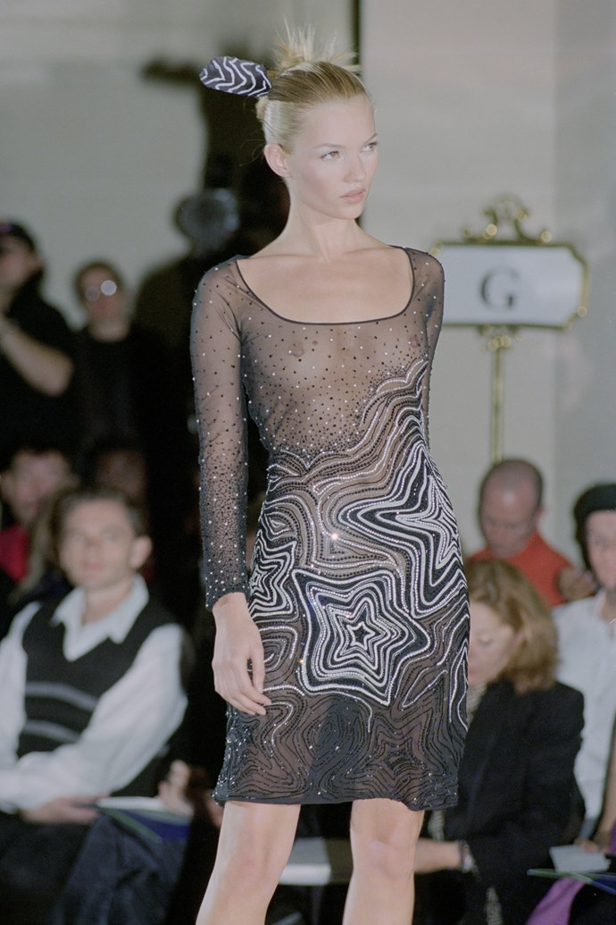 Kate Moss at Versace Haute Couture spring/summer '96.