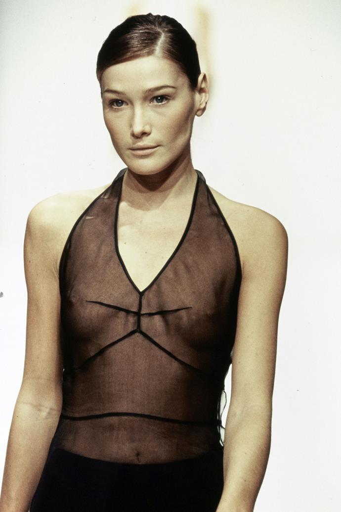 Carla Bruni at Prada spring/summer '95.