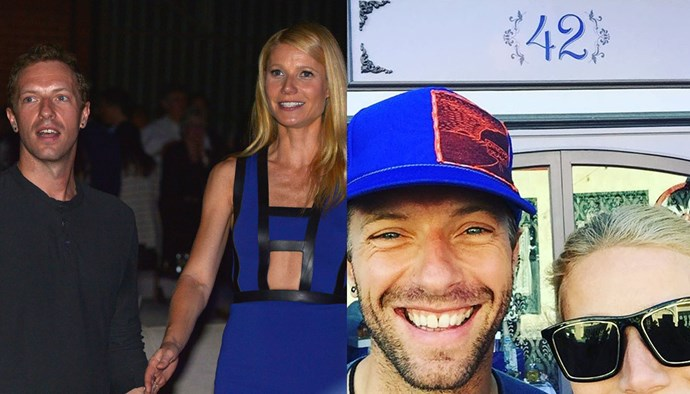 "***Gwyneth Paltrow and Chris Martin*** <br><br> Though Paltrow has moved on, marrying TV producer Brad Falchuk in 2018, her ex-husband (and the father of her children, Apple and Moses) Martin still holds a close place in her heart. She's shared pictures of Martin hanging out with her and Falchuk in the past, and on March 2, 2019, posted on Instagram for Martin's 42nd birthday (on the right): ""Happy Birthday CAJM. This is a special one. We love you so much. #42."""