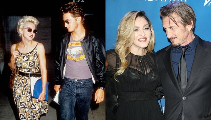 "***Madonna and Sean Penn*** <br><br> Madonna and Sean Penn were one of the most famous couples of the '80s, in a volatile four-year marriage that ended in a prickly divorce. However, they remain close friends, and Penn told TV host Stephen Colbert in 2018: ""Ah, I love my first wife very much. There's no comparison."""