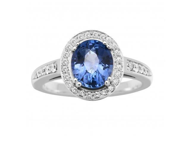 "**The Vibe: Classic** <br><br> 18-carat ceylon sapphire and diamond Chelsea ring, $9960 at [Jan Logan](http://www.janlogan.com/precious-ring-051819|target=""_blank""
