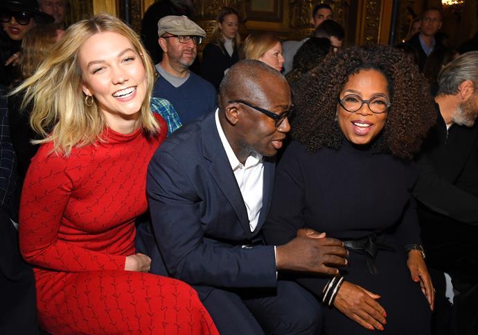 Karlie Kloss, Edward Enninful and Oprah Winfrey at Stella McCartney.
