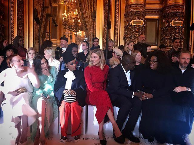 "Karen Elson, Alexa Chung, Janelle Monáe, Karlie Kloss, Edward Enninful and Oprah Winfrey at Stella McCartney. <br><br> *Image: [@timblanks](https://www.instagram.com/timblanks/?hl=en|target=""_blank""|rel=""nofollow"")*"