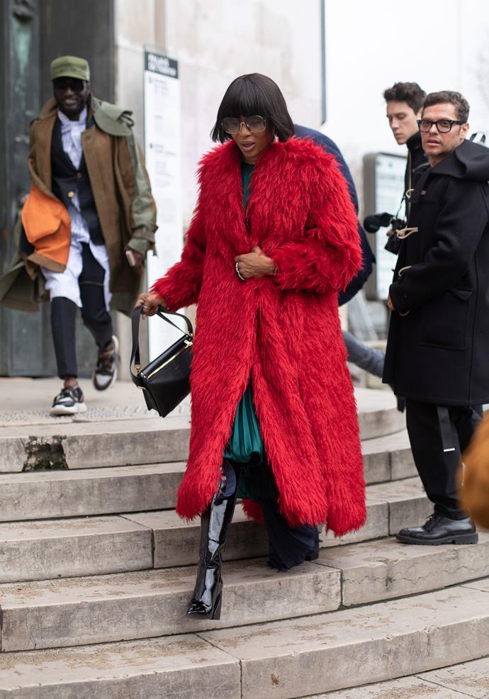 Naomi Campbell at Sacai.