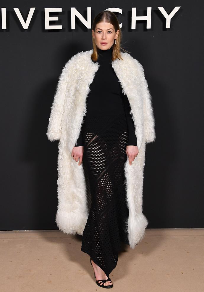 Rosamund Pike at Givenchy.