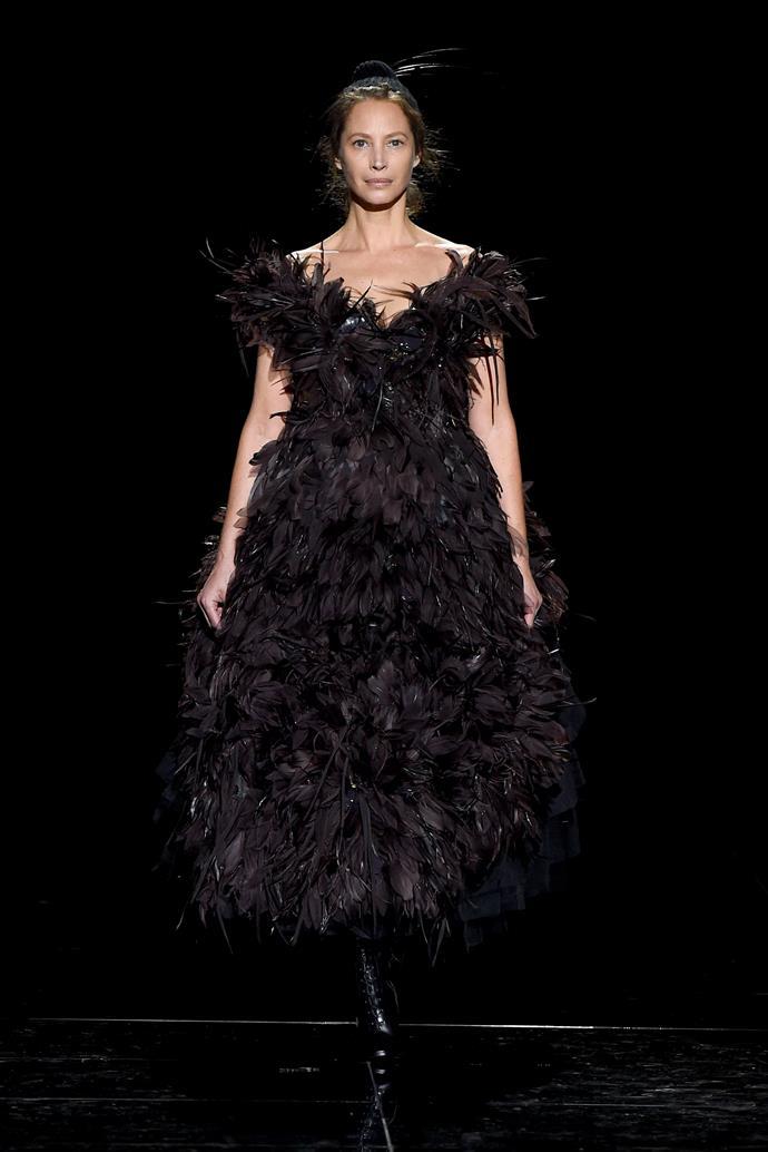 Christy Turlington (age 50) at Marc Jacobs autumn/winter '19.