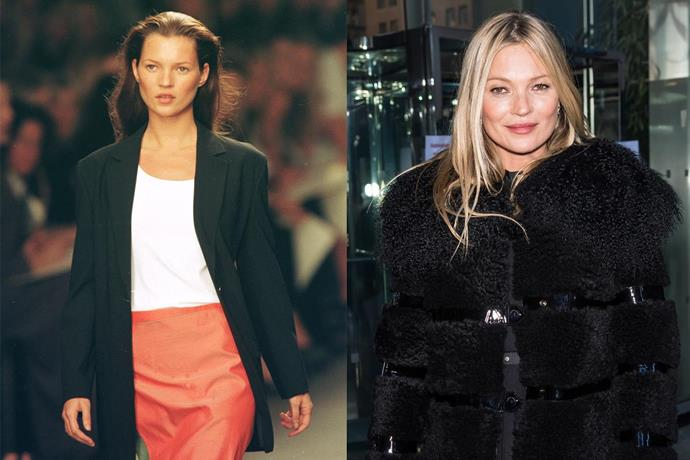 **9. Kate Moss** <br><br> It's been many years since 'Kate the Great' was first scouted at JFK Airport, at the age of 14—and it didn't take long for the girl from East London to become one of the world's most famous models, starting off with some rather memorable (and occasionally very controversial) campaigns for Calvin Klein. <br><br> ***Net worth: $80 million***