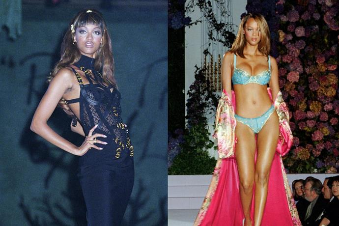 **6. Tyra Banks** <br><br> Banks was famously rejected from five different modelling agencies before being signed in the early '90s, but once she was, the rest was history. The 45-year-old might have walked for Chanel and had her own fruitful Victoria's Secret career, but creating and hosting *America's Next Top Model* is what helped her attain household name status. <br><br> ***Net worth: $90 million***