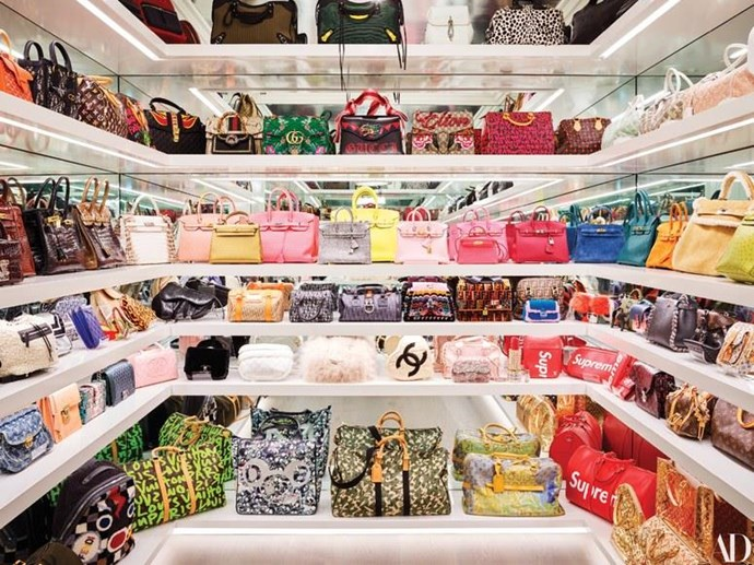 "***Kylie Jenner*** <br><br> If you didn't know Kylie Jenner is a billionaire, her handbag closet is all the evidence you need. The 21-year-old beauty mogul showed off her closet on her [YouTube channel](https://www.youtube.com/watch?v=7OH7Wxirxls|target=""_blank""